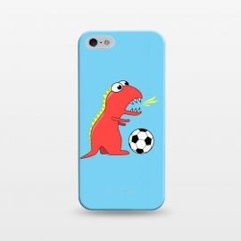 iPhone 5/5E/5s  Funny Cartoon Dinosaur Soccer Player by Boriana Giormova