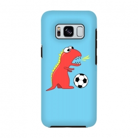 Funny Cartoon Dinosaur Soccer Player by Boriana Giormova