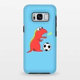 Galaxy S8+  Funny Cartoon Dinosaur Soccer Player by Boriana Giormova