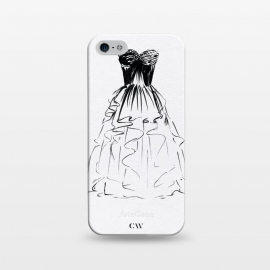 iPhone 5/5E/5s  Little Black Ball Gown Dress by Caitlin Workman