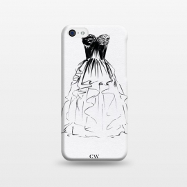 iPhone 5C  Little Black Ball Gown Dress by Caitlin Workman