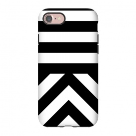 iPhone 8/7  Black Stripes by Caitlin Workman (Bold, Stripes, modern, minimal, black and white, clean, vector, fashion, style, pattern,luxury, chic)