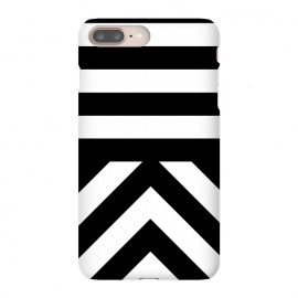 iPhone 8/7 plus  Black Stripes by  (Bold, Stripes, modern, minimal, black and white, clean, vector, fashion, style, pattern,luxury, chic)
