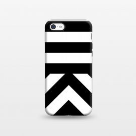 iPhone 5C  Black Stripes by Caitlin Workman