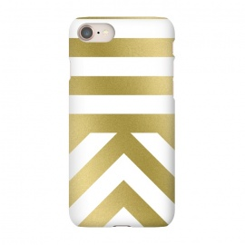 iPhone 8/7  Gold Chevron Stripes by Caitlin Workman