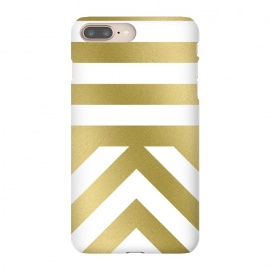Gold Chevron Stripes by Caitlin Workman (metallic, gold, stripes, pattern, fashion, style, miniimal,modern, bold, clean, chic, luxury)