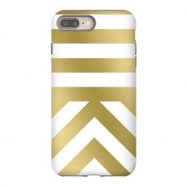 Gold Chevron Stripes by Caitlin Workman