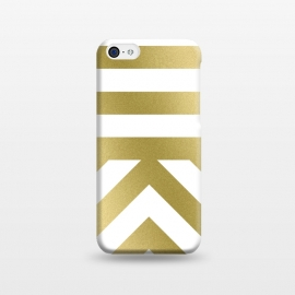 iPhone 5C  Gold Chevron Stripes by Caitlin Workman