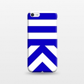 iPhone 5C  Blue Stripes by Caitlin Workman