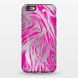 iPhone 6/6s plus  Magenta and Silver Marble by Caitlin Workman