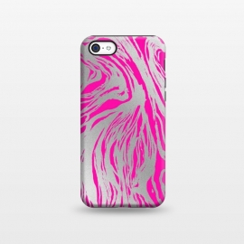 iPhone 5C  Magenta and Silver Marble by Caitlin Workman