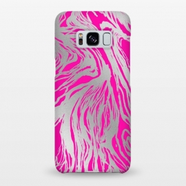 Galaxy S8+  Magenta and Silver Marble by Caitlin Workman