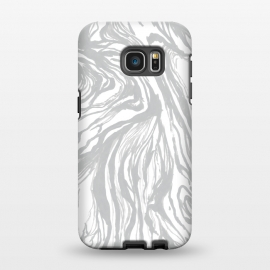 Galaxy S7 EDGE  Gray Marble by Caitlin Workman