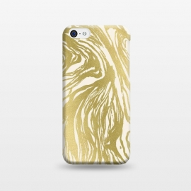iPhone 5C  Gold Marble by Caitlin Workman