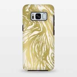 Galaxy S8+  Gold Marble by Caitlin Workman