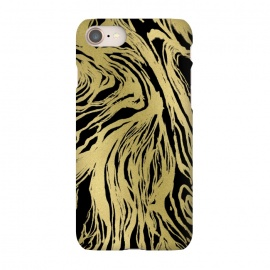 iPhone 8/7  Black and Gold Marble by Caitlin Workman