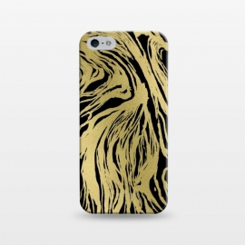 iPhone 5/5E/5s  Black and Gold Marble by Caitlin Workman