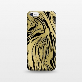 iPhone 5C  Black and Gold Marble by Caitlin Workman