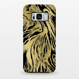 Galaxy S8+  Black and Gold Marble by Caitlin Workman