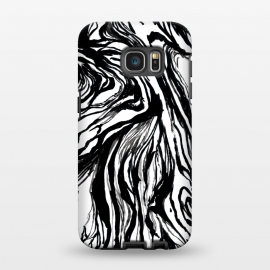 Galaxy S7 EDGE  Black Marble by Caitlin Workman