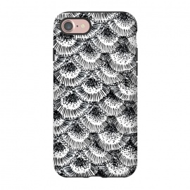 iPhone 8/7  Organic Burst Black by Caitlin Workman (pattern, nature, ocean,coral, black ,contrast, modern, bold, ornate)