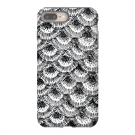 Organic Burst Black by Caitlin Workman (pattern, nature, ocean,coral, black ,contrast, modern, bold, ornate)