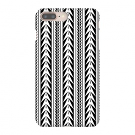 iPhone 8/7 plus  Edgy Black Stripes by  (black, vector, pattern, modern, stripes, cultural, global, travel)