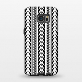 Galaxy S7 EDGE  Edgy Black Stripes by Caitlin Workman