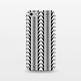iPhone 5/5E/5s  Edgy Black Stripes by Caitlin Workman