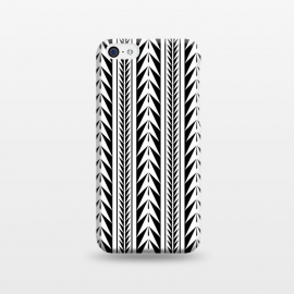 iPhone 5C  Edgy Black Stripes by Caitlin Workman