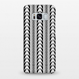 Galaxy S8+  Edgy Black Stripes by Caitlin Workman