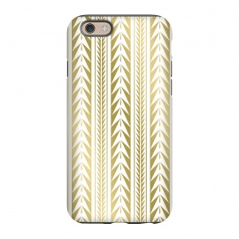 iPhone 6/6s  Edgy Gold Stripes by Caitlin Workman