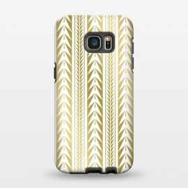 Galaxy S7 EDGE  Edgy Gold Stripes by Caitlin Workman