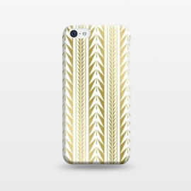 iPhone 5C  Edgy Gold Stripes by Caitlin Workman