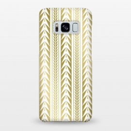 Galaxy S8+  Edgy Gold Stripes by Caitlin Workman