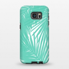 Galaxy S7 EDGE  Palms Teal by Caitlin Workman