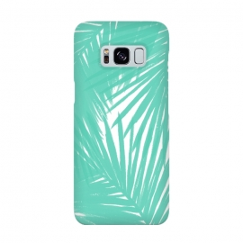 Galaxy S8  Palms Teal by Caitlin Workman