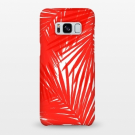 Galaxy S8+  Red Palms by Caitlin Workman