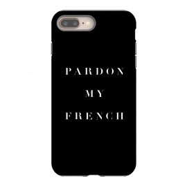 Pardon My French Black by Caitlin Workman (black, typography, type, quote, fashion,style, chich)