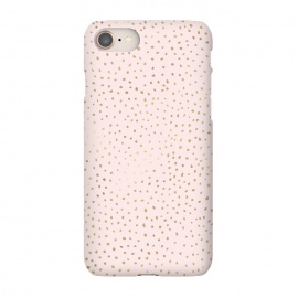 iPhone 8/7  Dotted Pink and Gold by Caitlin Workman