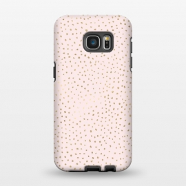 Galaxy S7 EDGE  Dotted Pink and Gold by Caitlin Workman