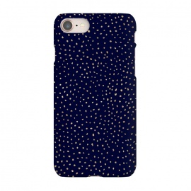 iPhone 8/7  Dotted Gold and Navy by Caitlin Workman