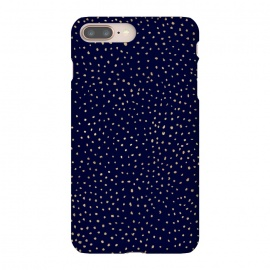 Dotted Gold and Navy by Caitlin Workman (navu, blue, metallic, gold, polka dot, dot, sky, stars, contrast)
