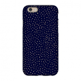 iPhone 6/6s  Dotted Gold and Navy by Caitlin Workman