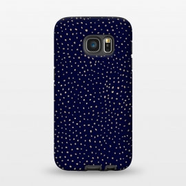 Galaxy S7  Dotted Gold and Navy by Caitlin Workman