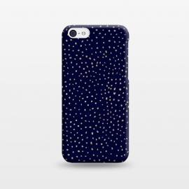 iPhone 5C  Dotted Gold and Navy by Caitlin Workman