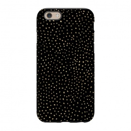 iPhone 6/6s  Dotted Gold and Black by Caitlin Workman