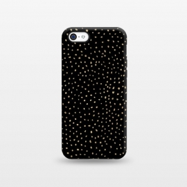iPhone 5C  Dotted Gold and Black by Caitlin Workman