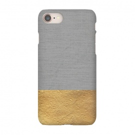 iPhone 8/7  Color Blocked Gold and Grey by Caitlin Workman