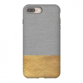 iPhone 8/7 plus  Color Blocked Gold and Grey by Caitlin Workman